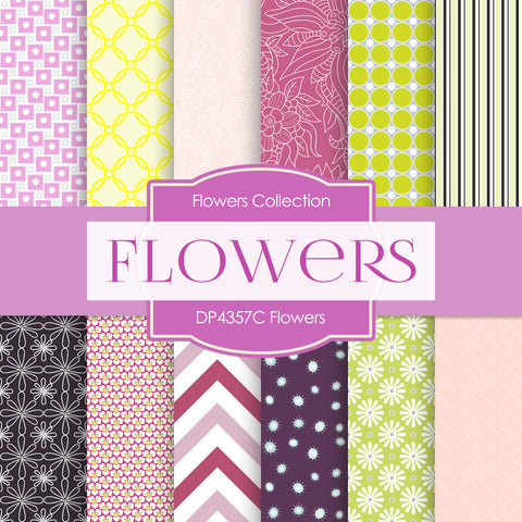 Flowers Digital Paper DP4357C