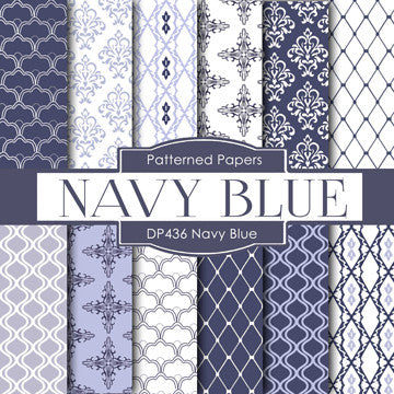 Navy Blue Digital Paper DP436 - Digital Paper Shop - 1