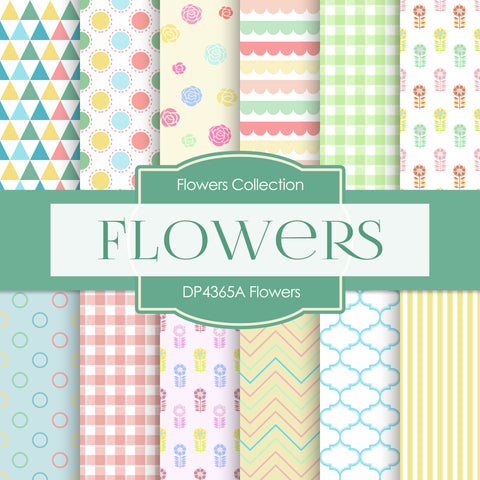 Flowers Digital Paper DP4365A