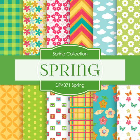 Spring Digital Paper DP4371