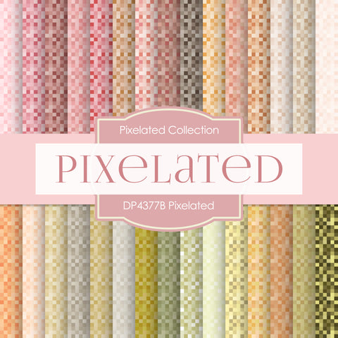 Pixelated Digital Paper DP4377B