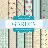 Engilsh Garden Digital Paper DP438 - Digital Paper Shop - 1