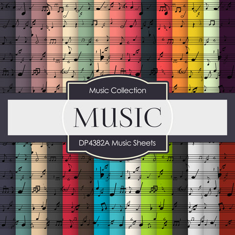 Music Sheets Digital Paper DP4382A