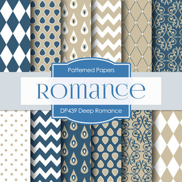 Deep Romance Digital Paper DP439 - Digital Paper Shop - 1