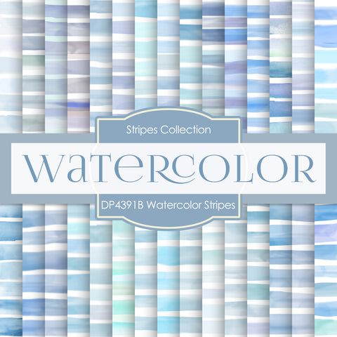 Watercolor Stripes Digital Paper DP4391B