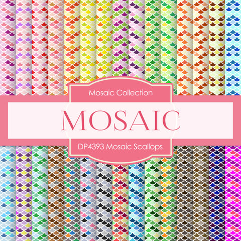 Mosaic Scallops Digital Paper DP4393