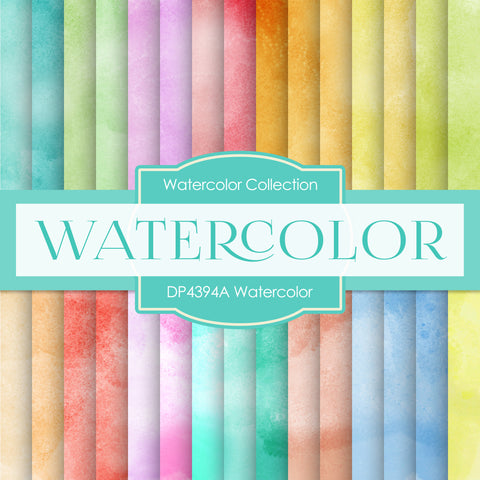 Watercolor Digital Paper DP4394A
