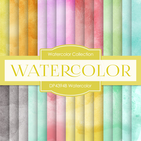 Watercolor Digital Paper DP4394B