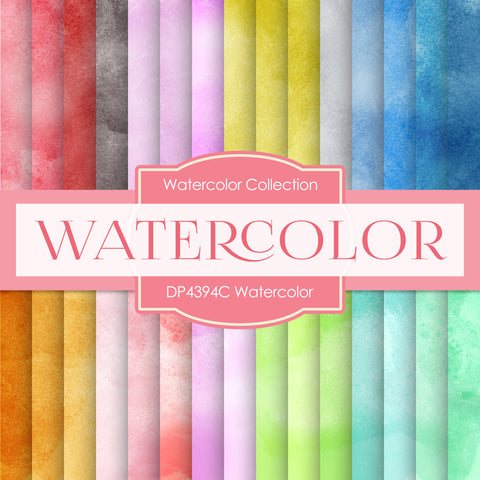 Watercolor Digital Paper DP4394C