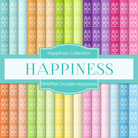 Double Happiness Digital Paper DP4396A