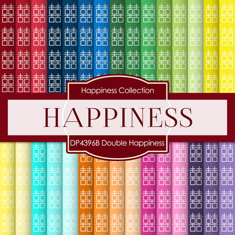 Double Happiness Digital Paper DP4396B