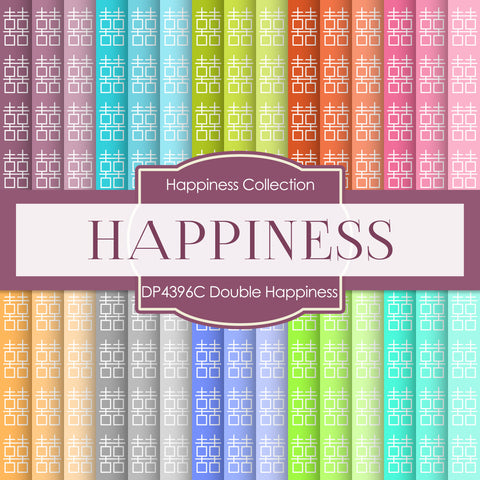 Double Happiness Digital Paper DP4396C