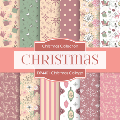 Christmas College Digital Paper DP4401 - Digital Paper Shop - 1