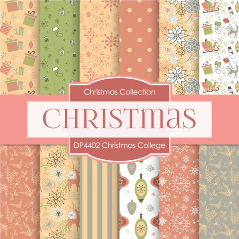 Christmas College Digital Paper DP4402 - Digital Paper Shop - 1
