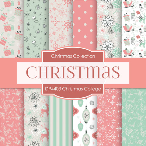 Christmas College Digital Paper DP4403 - Digital Paper Shop - 1