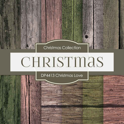 Christmas Love Digital Paper DP4413 - Digital Paper Shop - 1