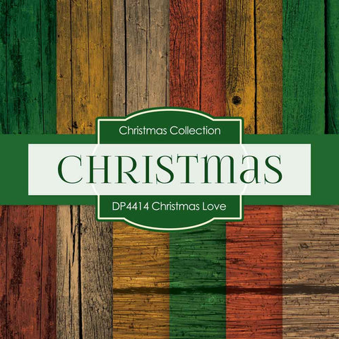Christmas Love Digital Paper DP4414 - Digital Paper Shop - 1