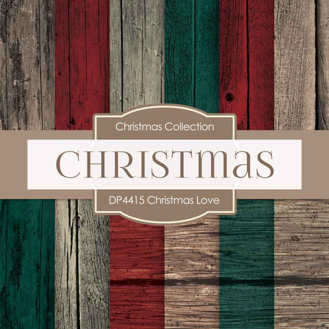 Christmas Love Digital Paper DP4415 - Digital Paper Shop - 1