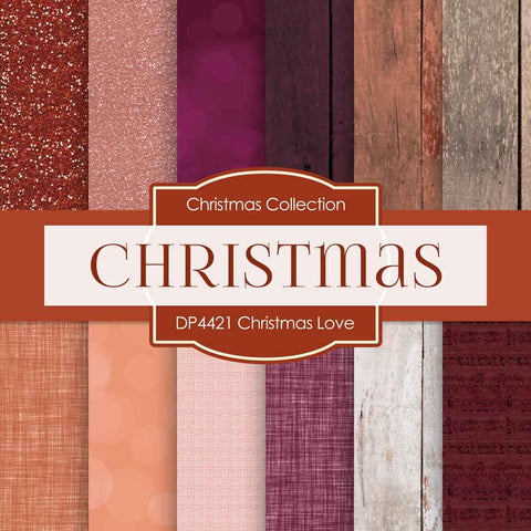 Christmas Love Digital Paper DP4421 - Digital Paper Shop - 1