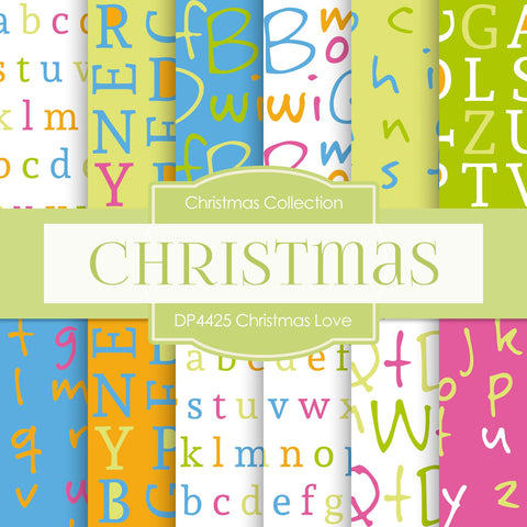Christmas Love Digital Paper DP4425 - Digital Paper Shop - 1