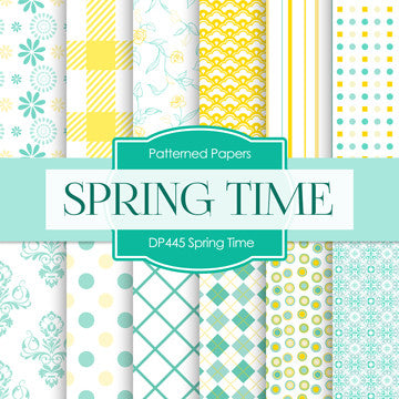 Spring Time Digital Paper DP445 - Digital Paper Shop - 1