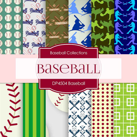 Baseball Digital Paper DP4504 - Digital Paper Shop - 1