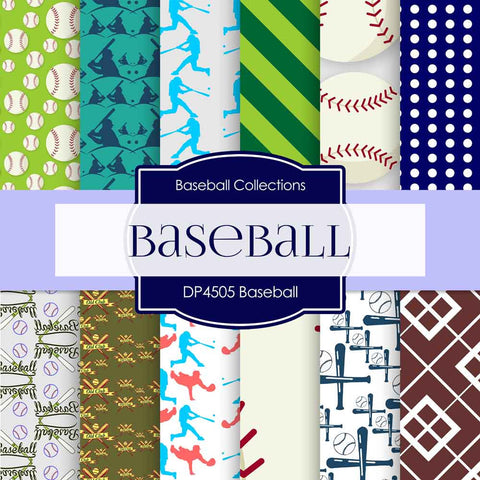 Baseball Digital Paper DP4505 - Digital Paper Shop - 1