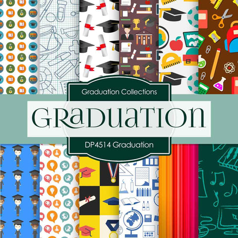 Graduation Digital Paper DP4514 - Digital Paper Shop - 1