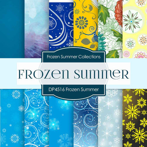 Frozen Summer Digital Paper DP4516 - Digital Paper Shop - 1
