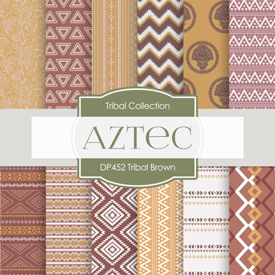 Tribal Brown Digital Paper DP452 - Digital Paper Shop - 1