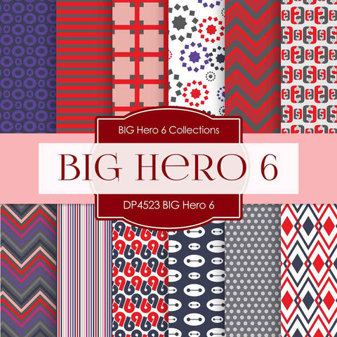 BIG Hero 6 Digital Paper DP4523 - Digital Paper Shop - 1