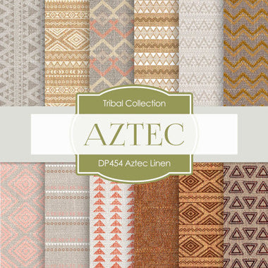 Aztec Linen Digital Paper DP454 - Digital Paper Shop - 1