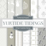 Yuletide Tidings Digital Paper DP469 - Digital Paper Shop - 1