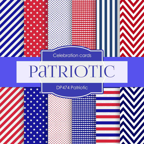 Patriotic Digital Paper DP474 - Digital Paper Shop - 1