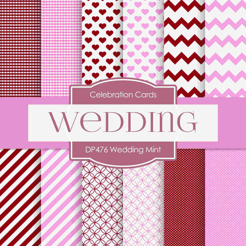 Wedding Mint Digital Paper DP476 - Digital Paper Shop - 1