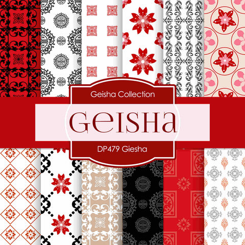 Geisha Digital Paper DP479 - Digital Paper Shop - 1