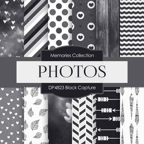Black Capture Digital Paper DP4823 - Digital Paper Shop - 1
