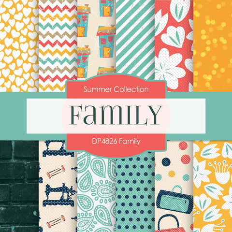 Family Digital Paper DP4826 - Digital Paper Shop - 1
