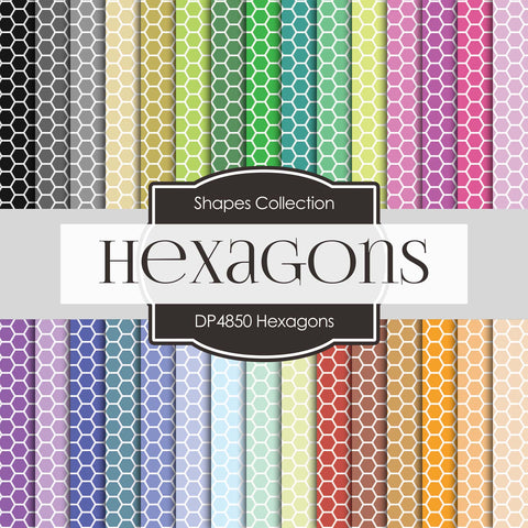 Hexagons Paper DP4850 - Digital Paper Shop - 1