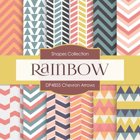 Chevron Arrows Digital Paper DP4855 - Digital Paper Shop - 1