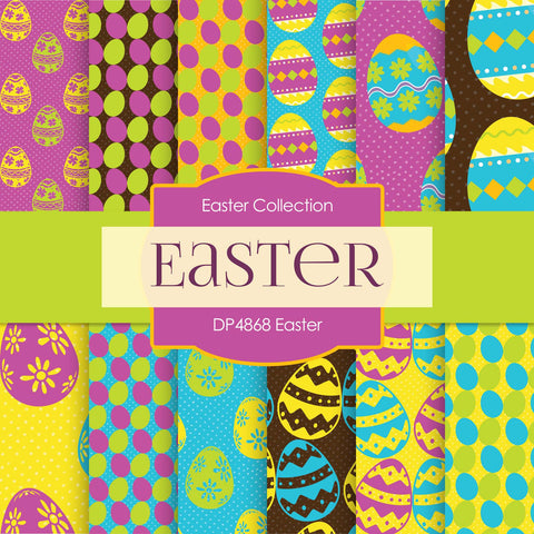 Easter Digital Paper DP4868 - Digital Paper Shop - 1