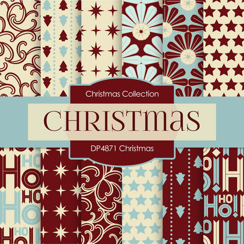 Christmas Digital Paper DP4871 - Digital Paper Shop - 1