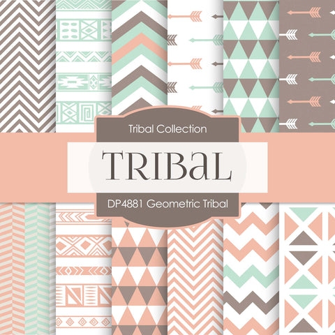 Geometric Tribal Digital Paper DP4881 - Digital Paper Shop - 1