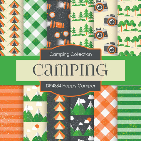 Happy Camper Digital Paper DP4884 - Digital Paper Shop - 1