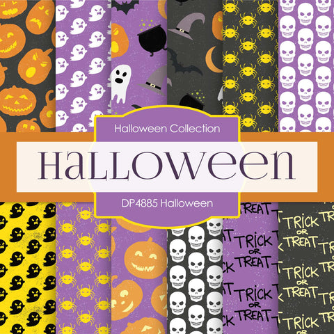 Halloween Digital Paper DP4885 - Digital Paper Shop - 1