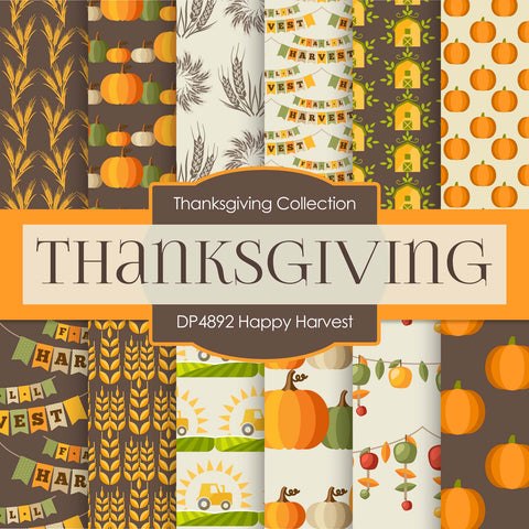 Thanksgiving Digital Paper DP4892 - Digital Paper Shop - 1