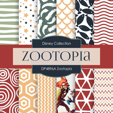 Zootopia Digital Paper DP4896A - Digital Paper Shop - 1