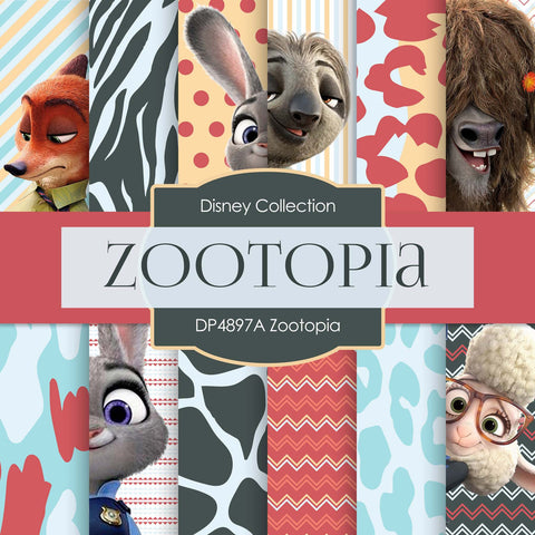 Zootopia Digital Paper DP4897A - Digital Paper Shop - 1