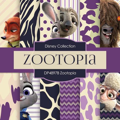 Zootopia Digital Paper DP4897B - Digital Paper Shop - 1