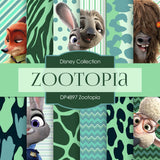 Zootopia Digital Paper DP4897 - Digital Paper Shop - 1